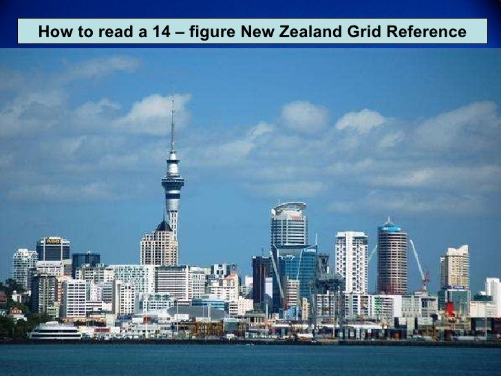 How to read a 14 – figure New Zealand Grid Reference