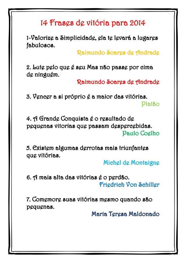 14 Frases de VITÓRIA para 2014 em PDF para baixar