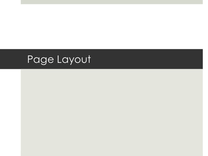 Page Layout<br />