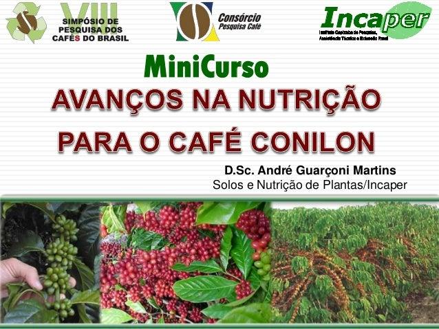MiniCurso  D.Sc. André Guarçoni Martins Solos e Nutrição de Plantas/Incaper