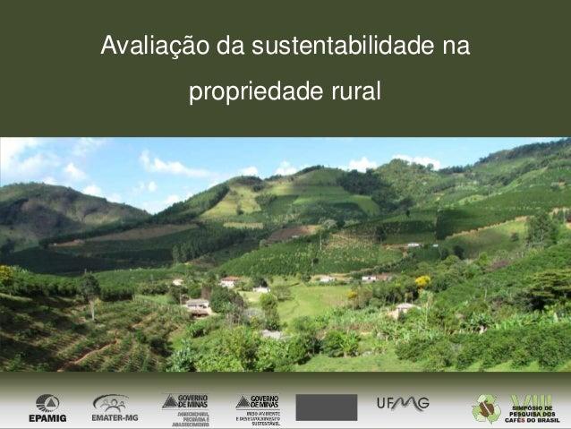 Avaliação da sustentabilidade na propriedade rural