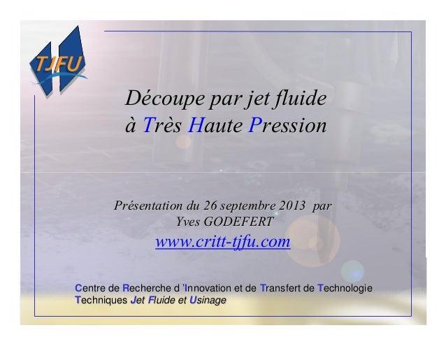 CCentre deentre de RRecherche decherche d ''IInnovation et dennovation et de TTransfert deransfert de TTechnologieechnolog...