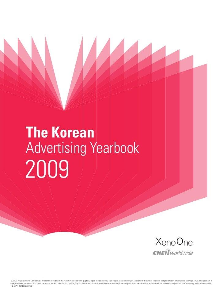 The Korean                   Advertising Yearbook                 2009                                                    ...