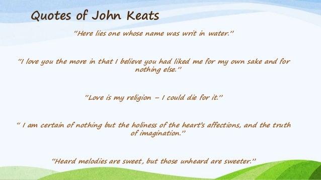 John Keats romantic poet