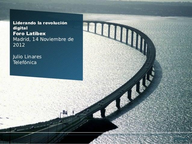 Julio Linares de Telefonica en el foro de Latibex