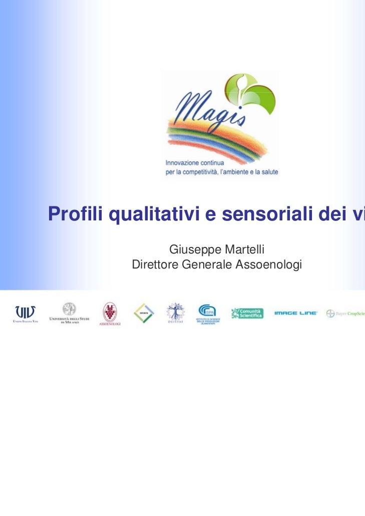Profili qualitativi e sensoriali dei vini