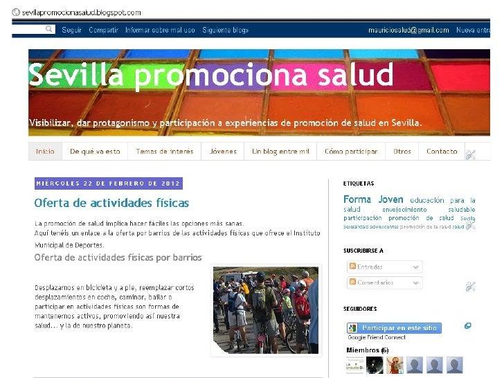 Blog    publicación periódica online,       con una comunidad de lectores
