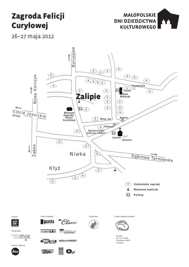 Zalipie, mapa