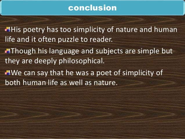 william wordsworth infuses sense of humanism in his poems Associate professor, english, faculty of social science & humanities, bhupal nobles university, udaipur, rajasthan, india.