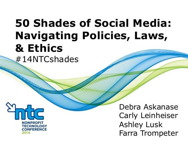 50 Shades of Social Media: Navigating Policies, Laws, and Ethics