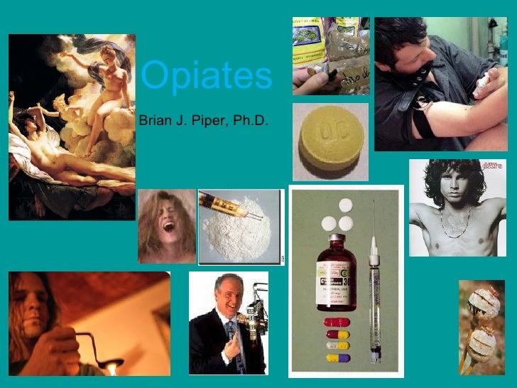 OpiatesBrian J. Piper, Ph.D.