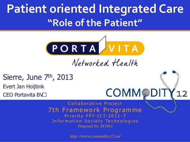 Evert Jan Hoijtink, Portavita.nl, pour la journée e-health 2013