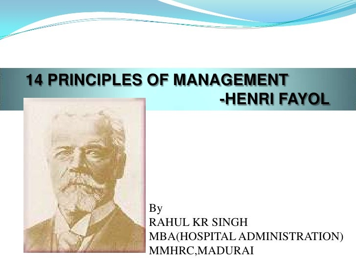 fayols principles of management in mcdonalds