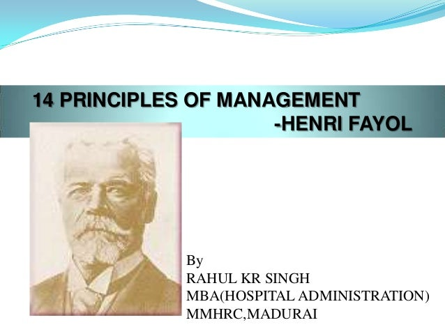principles of management in mcdonalds Henry fayol's 14 principles of management  division of work: the work should be divided among the individuals on the basis of their specializations, so as to ensure their full focus on the effective completion of the task assigned to them.