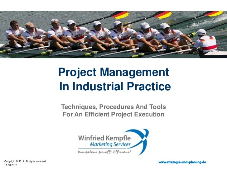 Project Management - Winfried Kempfle Marketing Services