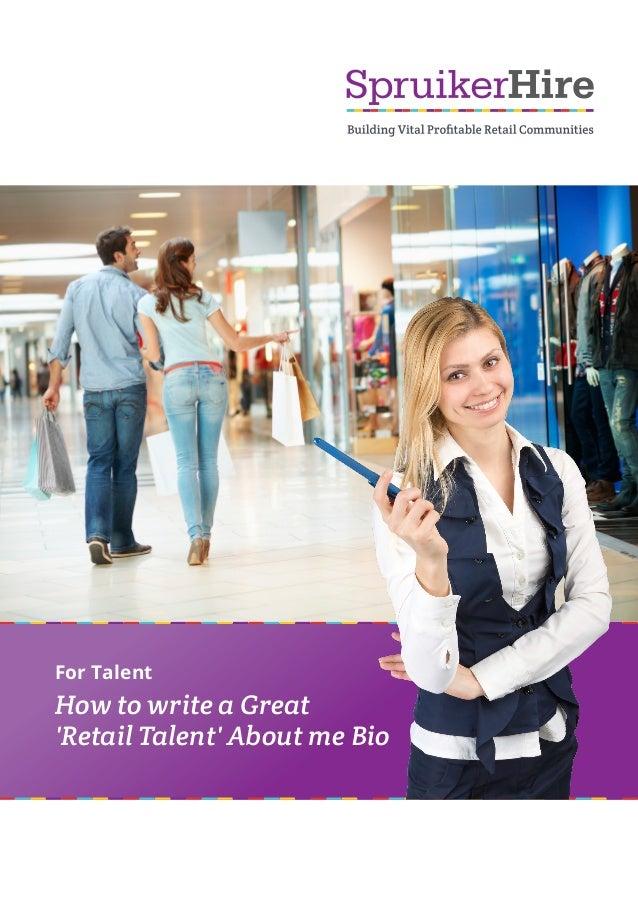 how to write a bio for a website