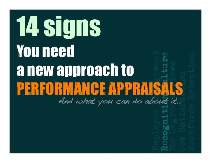 14 Signs You Need A New Approach To Performance Appraisals San Francisco