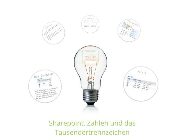 SharePoint Lektion #14: Das Tausendertrennzeichen