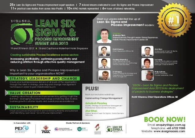 14th Annual Asian Lean Six Sigma And Process Improvement Summit