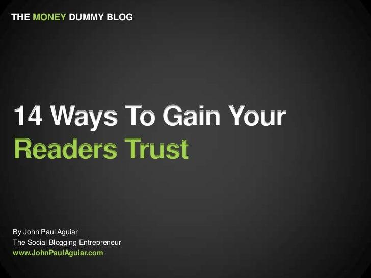 14 Ways To Gain Reader Trust