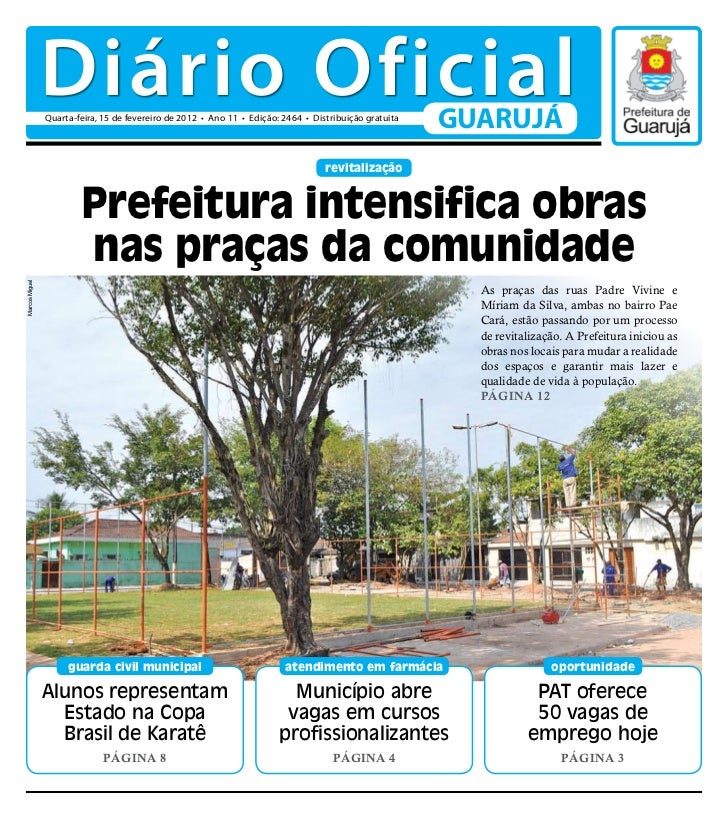 Diário Oficial de Guarujá - 15-02-12