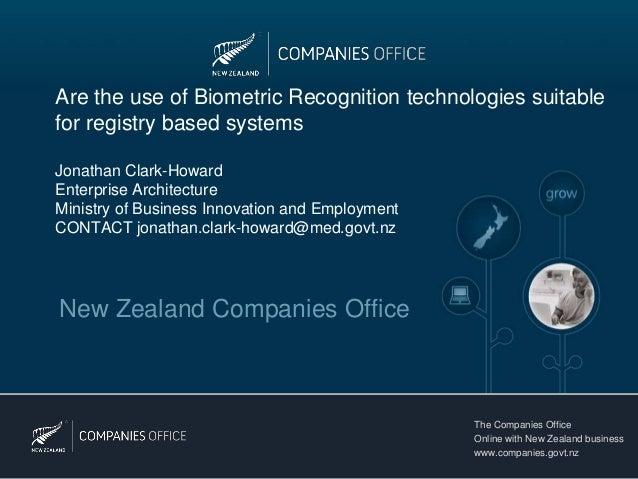 New Zealand | Future use of Biometrics (Jonathan Clark Howard)