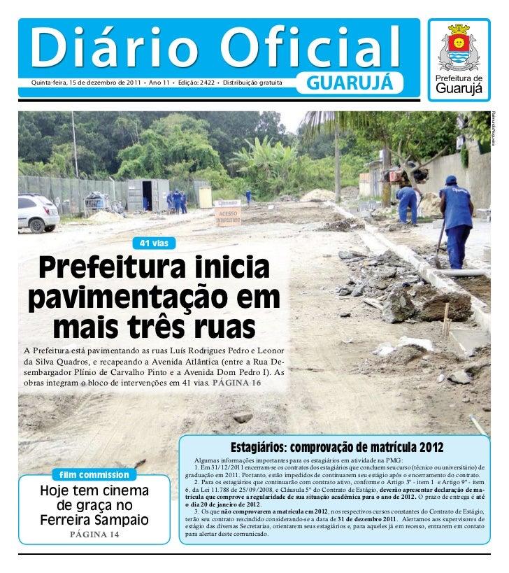 Diário Oficial de Guarujá - 15-12-11