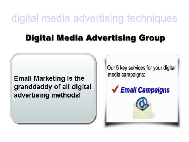 digital media advertising techniques