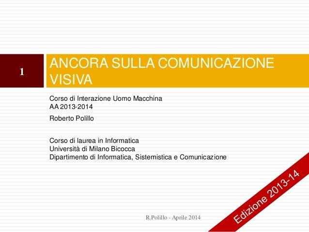 15. Ancora sulla comunicazione visiva