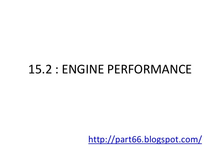 EASA Part 66 Module 15.2 : Engine Performance