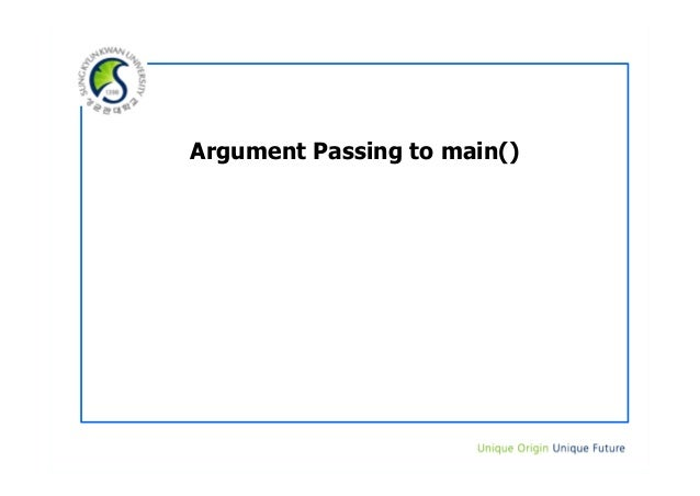 Argument Passing to main()