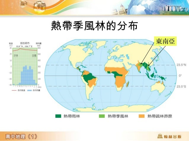 熱帶季風林的分布 東南亞