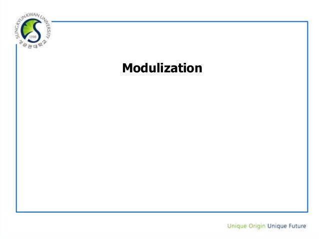15 3. modulization