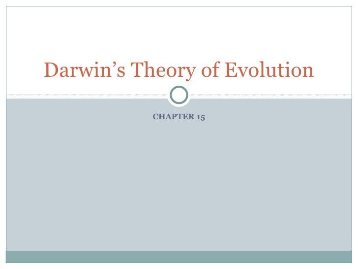 15  Darwin'S Theory Of Evolution (Version 2)