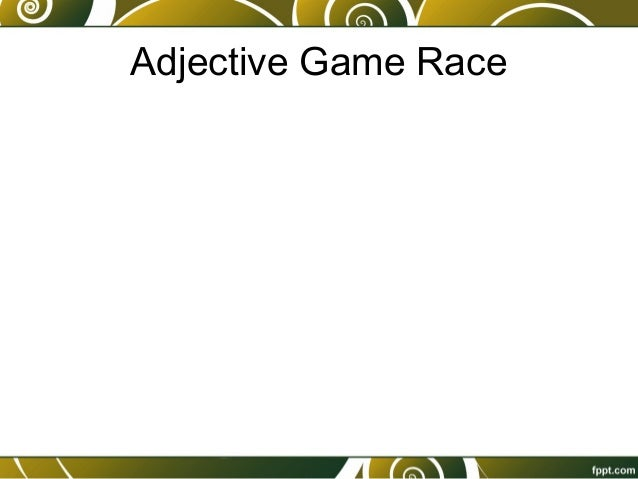 5 Adjective Game