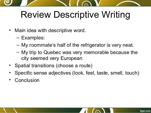 Descriptive Essay Conclusion Examples