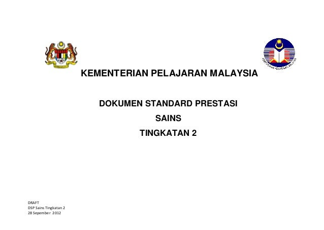 KEMENTERIAN PELAJARAN MALAYSIA                           DOKUMEN STANDARD PRESTASI                                     SAI...