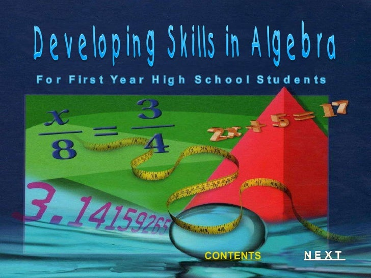 Visual Presentation in Developing Skills in Algebra for First Year Students