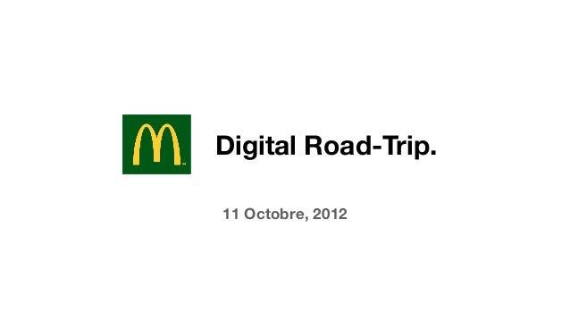 Digital Road-Trip.11 Octobre, 2012