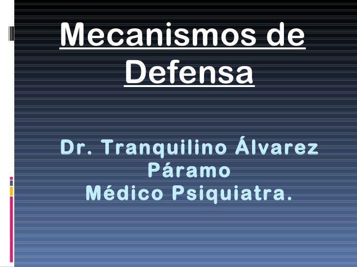 15. mecanismos de defensa
