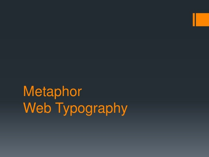 MetaphorWeb Typography<br />