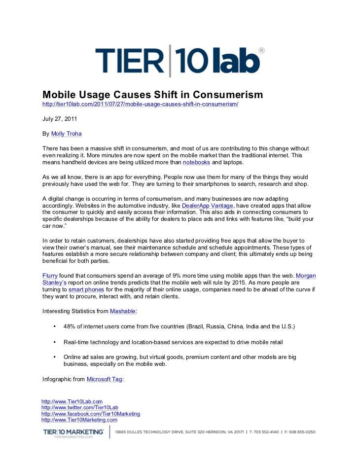 Mobile Usage Causes Shift i...