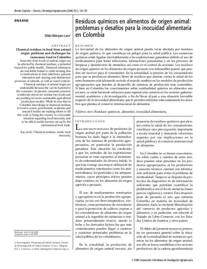 Revista Corpoica – Ciencia y Tecnología Agropecuaria (2008) 9(1), 124-135E n SAYo                                         ...
