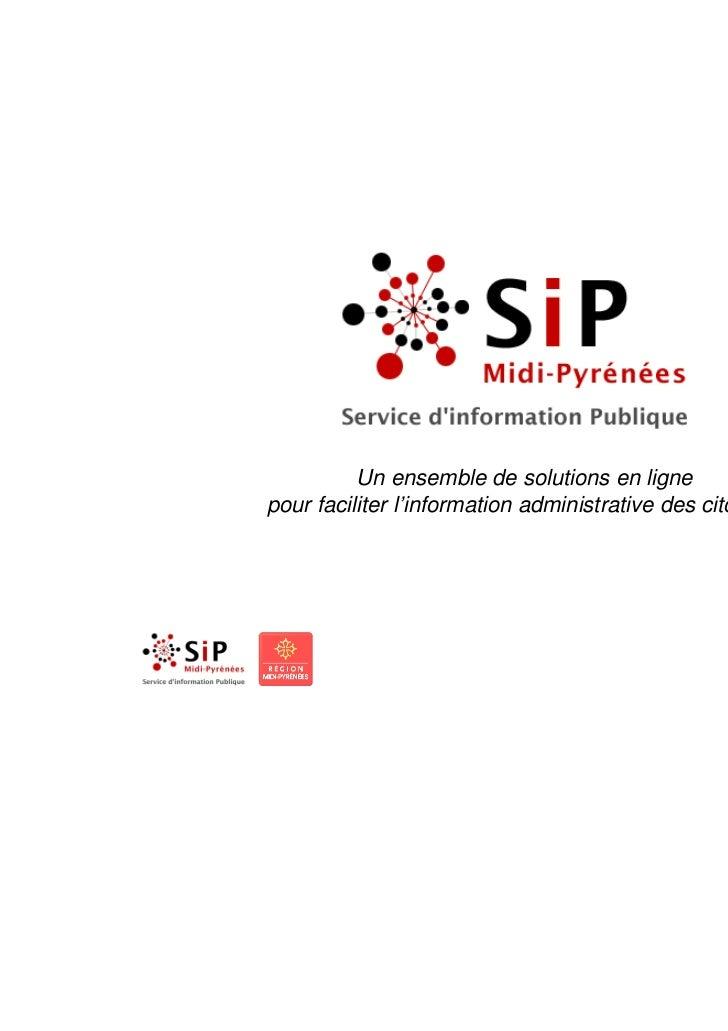 Un ensemble de solutions en lignepour faciliter l'information administrative des citoyens