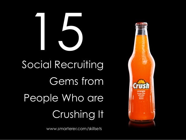 Social RecruitingGems fromPeople Who areCrushing It15www.smarterer.com/skillsets