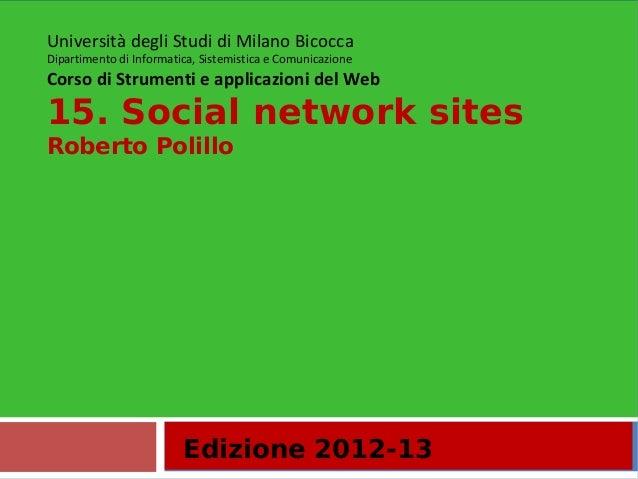 15. Social network sites