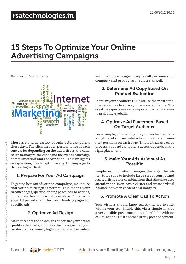 15 steps-to-optimize-your-online-advertising-campaigns