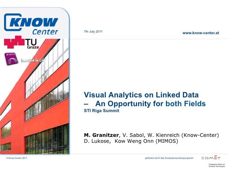STI Summit 2011 - Visual analytics and linked data