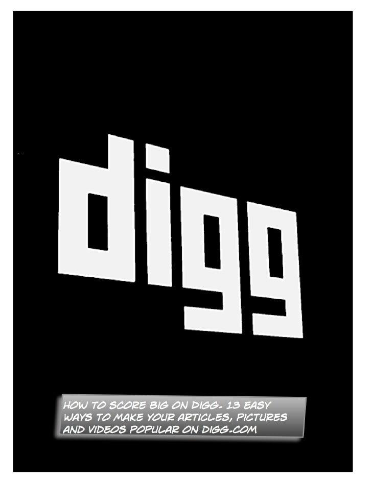 15 Ways To Get Popular On Digg