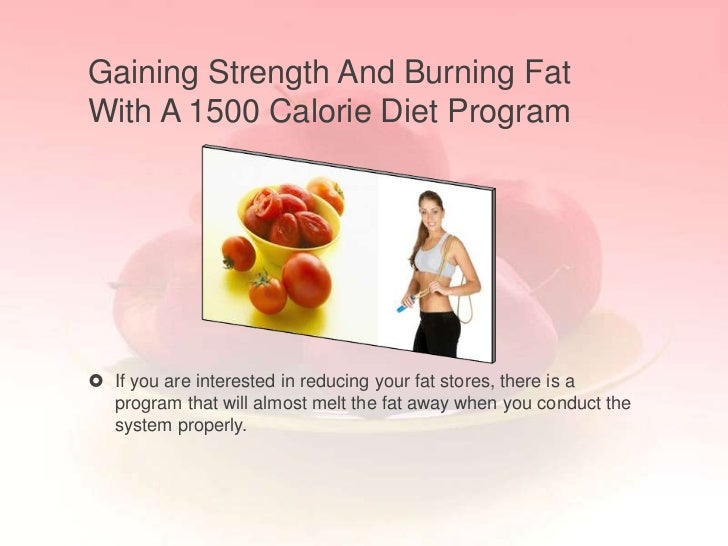 Gaining Strength And Burning FatWith A 1500 Calorie Diet Program If you are interested in reducing your fat stores, there...